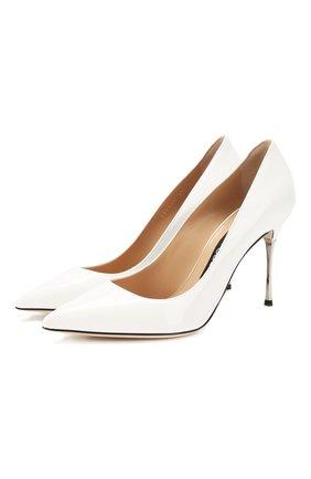 Женская кожаные туфли SERGIO ROSSI белого цвета, арт. A85361-MVIV01 | Фото 1