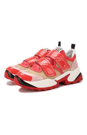 Женские комбинированные кроссовки SERGIO ROSSI красного цвета, арт. A89430-MFN898 | Фото 1