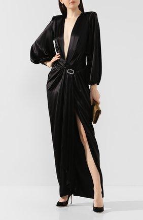 Женская текстильные туфли SERGIO ROSSI черного цвета, арт. A89580-MAFM46 | Фото 2