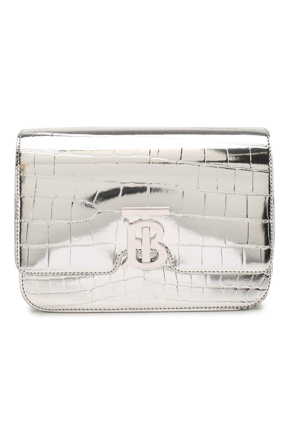 Женская сумка tb small BURBERRY серебряного цвета, арт. 8023094 | Фото 1