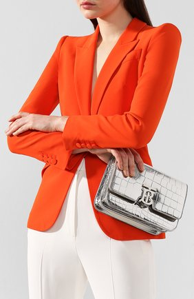 Женская сумка tb small BURBERRY серебряного цвета, арт. 8023094 | Фото 2