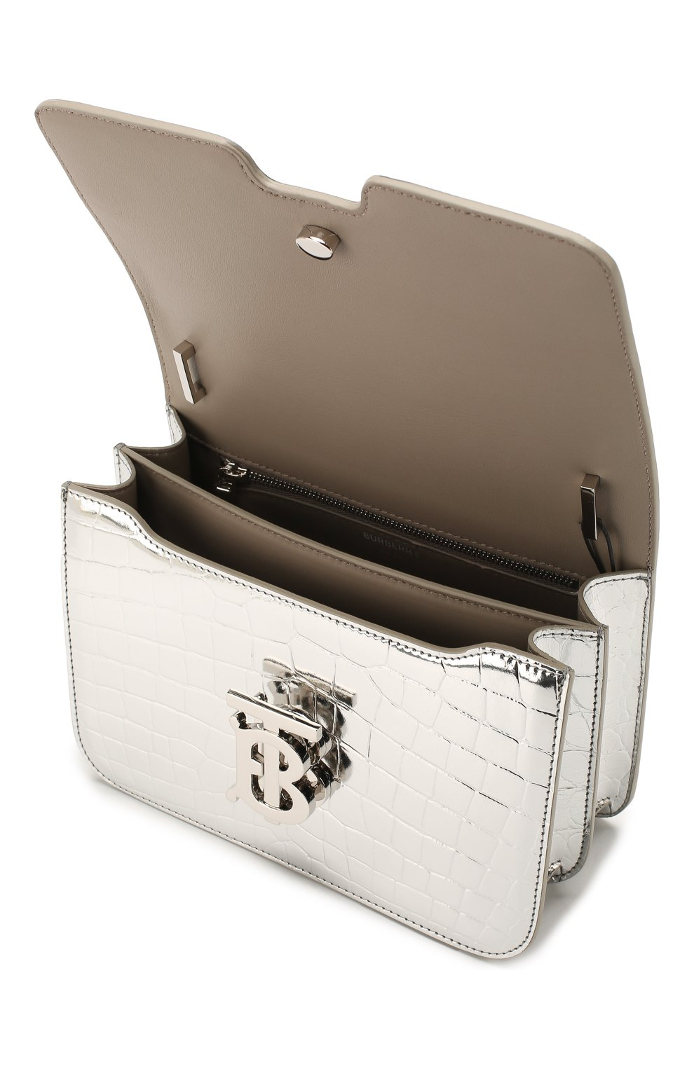 Женская сумка tb small BURBERRY серебряного цвета, арт. 8023094 | Фото 4