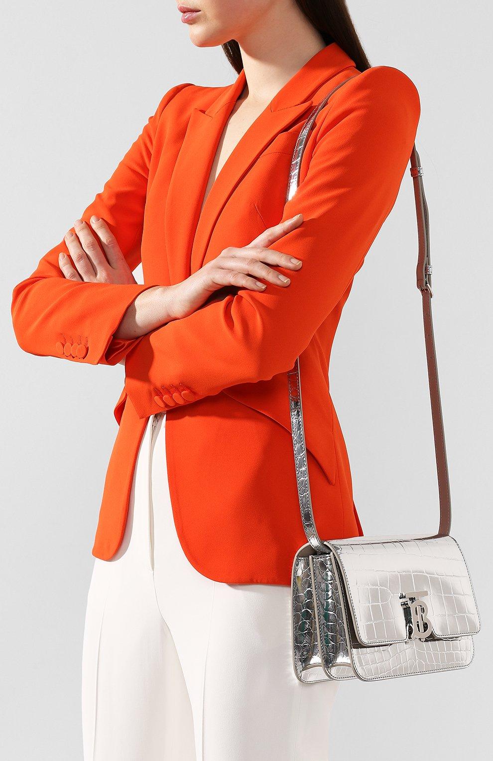 Женская сумка tb small BURBERRY серебряного цвета, арт. 8023094 | Фото 5