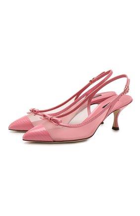 Женская комбинированные туфли lori DOLCE & GABBANA розового цвета, арт. CG0369/AX047 | Фото 1