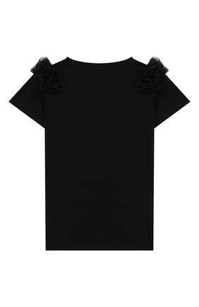 Детская хлопковая футболка BALMAIN черного цвета, арт. 6M8051/MA030/4-10 | Фото 2