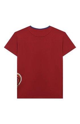 Детская хлопковая футболка DOLCE & GABBANA бордового цвета, арт. L4JT6S/G7VJR/8-14 | Фото 2