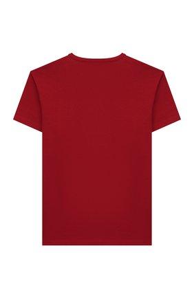 Детская хлопковая футболка DOLCE & GABBANA красного цвета, арт. L4JT6S/G7VJS/2-6 | Фото 2