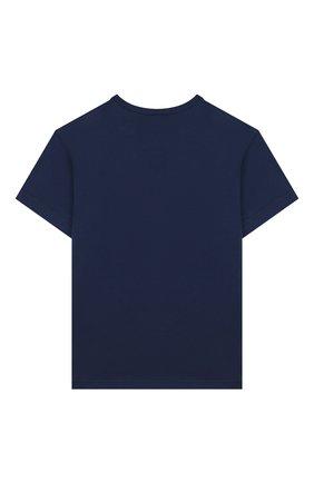 Детская хлопковая футболка DOLCE & GABBANA синего цвета, арт. L4JT6S/G7VJS/2-6 | Фото 2