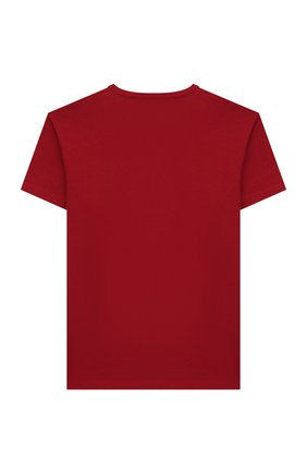 Детская хлопковая футболка DOLCE & GABBANA красного цвета, арт. L4JT6S/G7VJS/8-14 | Фото 2
