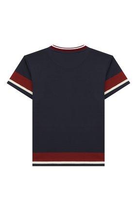 Детская хлопковая футболка DOLCE & GABBANA синего цвета, арт. L4JT7N/G7VIV/2-6 | Фото 2