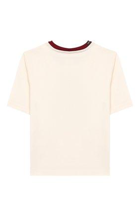 Детская хлопковая футболка DOLCE & GABBANA белого цвета, арт. L5JTAZ/G7WBF/8-14 | Фото 2