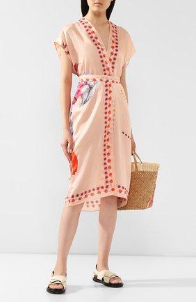 Женское платье из смеси хлопка и шелка GOTTEX светло-розового цвета, арт. 20PA711   Фото 2