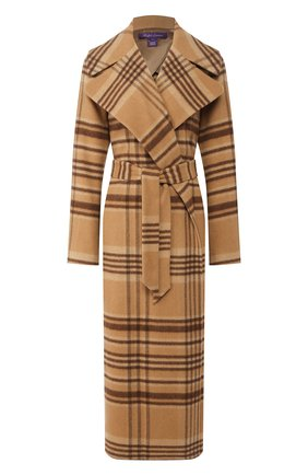 Женское пальто из смеси кашемира и шерсти RALPH LAUREN бежевого цвета, арт. 290770464 | Фото 1
