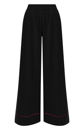 Женские шелковые брюки DOLCE & GABBANA черного цвета, арт. FTA0ZT/FUABF | Фото 1