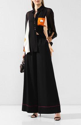 Женские шелковые брюки DOLCE & GABBANA черного цвета, арт. FTA0ZT/FUABF | Фото 2