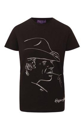 Женская хлопковая футболка RALPH LAUREN черного цвета, арт. 290795838 | Фото 1