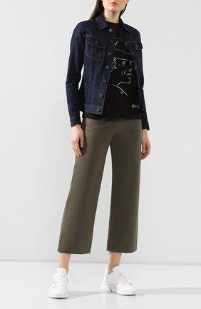 Женская хлопковая футболка RALPH LAUREN черного цвета, арт. 290795838 | Фото 2