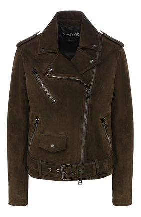 Женская замшевая куртка TOM FORD зеленого цвета, арт. CSL649-LEX226 | Фото 1