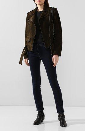 Женская замшевая куртка TOM FORD зеленого цвета, арт. CSL649-LEX226 | Фото 2
