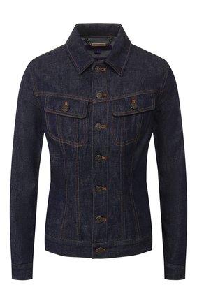 Женская джинсовая куртка RALPH LAUREN темно-синего цвета, арт. 290789713 | Фото 1