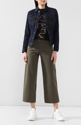 Женская джинсовая куртка RALPH LAUREN темно-синего цвета, арт. 290789713 | Фото 2