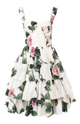 Женское хлопковое платье DOLCE & GABBANA белого цвета, арт. F6I0BT/HS5FZ | Фото 1