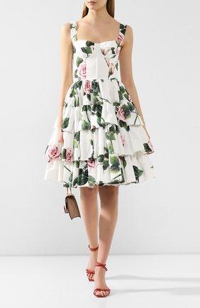 Женское хлопковое платье DOLCE & GABBANA белого цвета, арт. F6I0BT/HS5FZ | Фото 2
