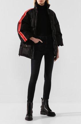 Женский пуховая куртка GUCCI черного цвета, арт. 601874/Z8AIE   Фото 2