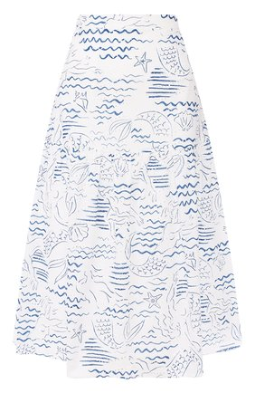 Женская хлопковая юбка KENZO голубого цвета, арт. FA52JU13357A | Фото 1