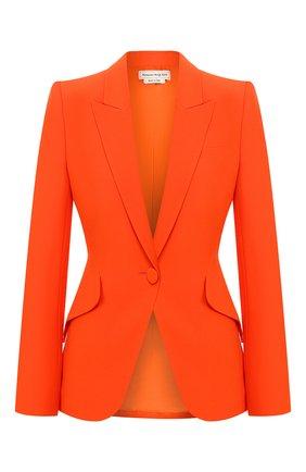 Женский жакет ALEXANDER MCQUEEN оранжевого цвета, арт. 610628/QEAAA | Фото 1