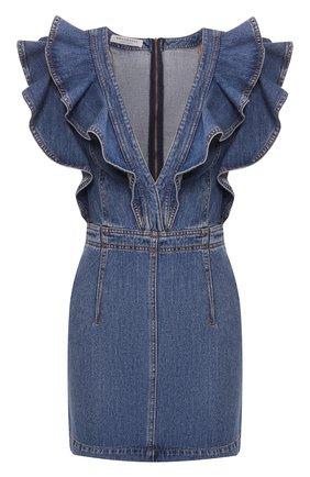 Женское джинсовое платье PHILOSOPHY DI LORENZO SERAFINI голубого цвета, арт. A0420/728 | Фото 1