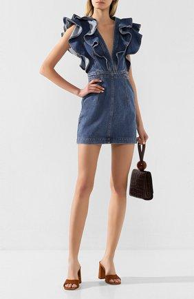 Женское джинсовое платье PHILOSOPHY DI LORENZO SERAFINI голубого цвета, арт. A0420/728 | Фото 2