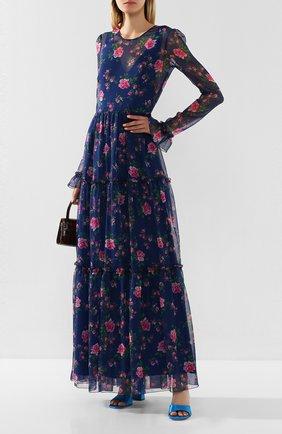 Женское платье-макси PHILOSOPHY DI LORENZO SERAFINI синего цвета, арт. A0442/754 | Фото 2