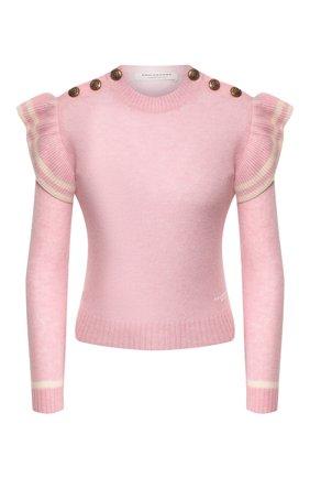 Женская кашемировый свитер PHILOSOPHY DI LORENZO SERAFINI розового цвета, арт. A0911/703 | Фото 1