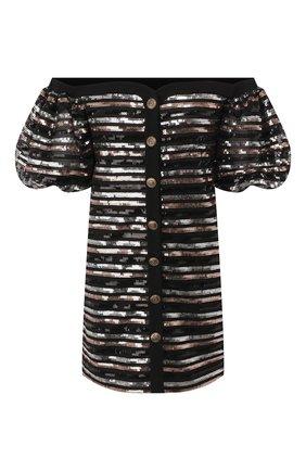 Женское платье с пайетками PHILOSOPHY DI LORENZO SERAFINI черного цвета, арт. V0409/743 | Фото 1