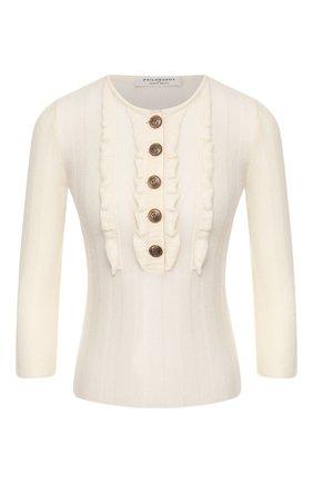 Женская кашемировый свитер PHILOSOPHY DI LORENZO SERAFINI белого цвета, арт. V0928/703 | Фото 1