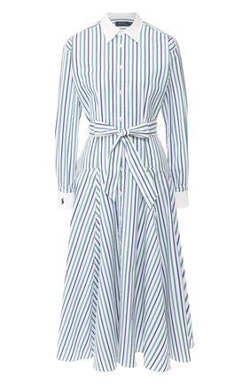 Женское хлопковое платье POLO RALPH LAUREN синего цвета, арт. 211781123 | Фото 1