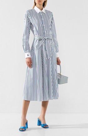 Женское хлопковое платье POLO RALPH LAUREN синего цвета, арт. 211781123 | Фото 2