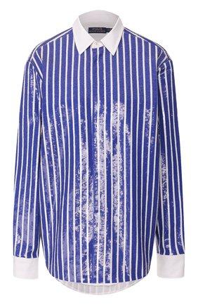 Женская рубашка с пайетками POLO RALPH LAUREN синего цвета, арт. 211781923 | Фото 1