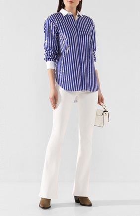 Женская рубашка с пайетками POLO RALPH LAUREN синего цвета, арт. 211781923 | Фото 2