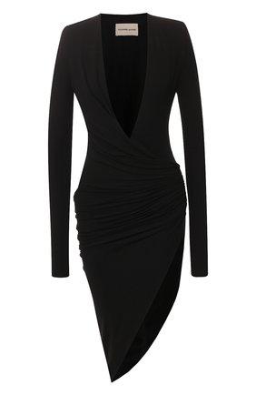 Женское платье из вискозы ALEXANDRE VAUTHIER черного цвета, арт. 201DR1208 0191-1029   Фото 1