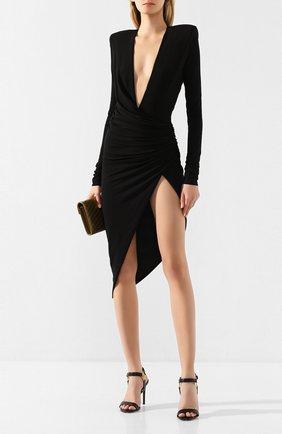 Женское платье из вискозы ALEXANDRE VAUTHIER черного цвета, арт. 201DR1208 0191-1029   Фото 2