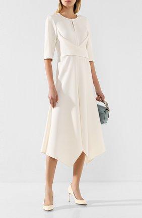 Женское платье-миди DOROTHEE SCHUMACHER белого цвета, арт. 642404/S0PHISTICATED PERFECTI0N | Фото 2