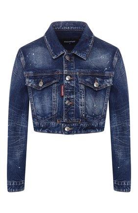 Женская джинсовая куртка DSQUARED2 синего цвета, арт. S80AM0003/S30663 | Фото 1