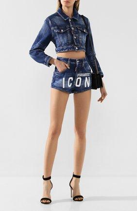 Женская джинсовая куртка DSQUARED2 синего цвета, арт. S80AM0003/S30663 | Фото 2