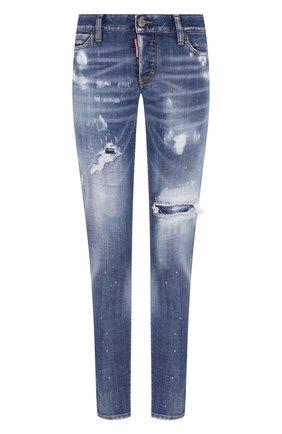 Женские джинсы DSQUARED2 синего цвета, арт. S72LB0278/S30664 | Фото 1
