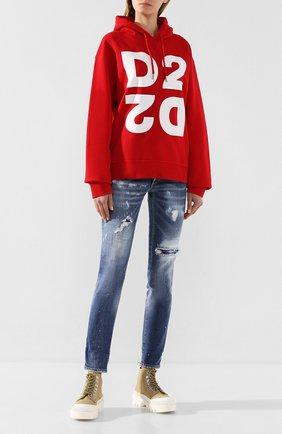 Женские джинсы DSQUARED2 синего цвета, арт. S72LB0278/S30664 | Фото 2