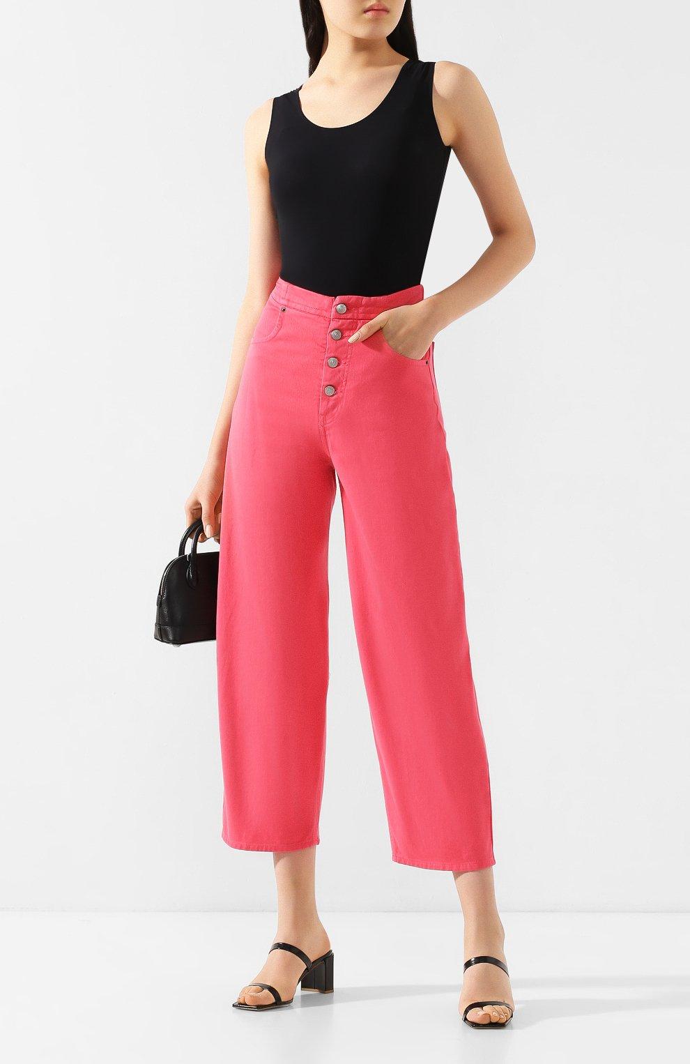 Женские джинсы MM6 розового цвета, арт. S52LA0119/S30653 | Фото 2