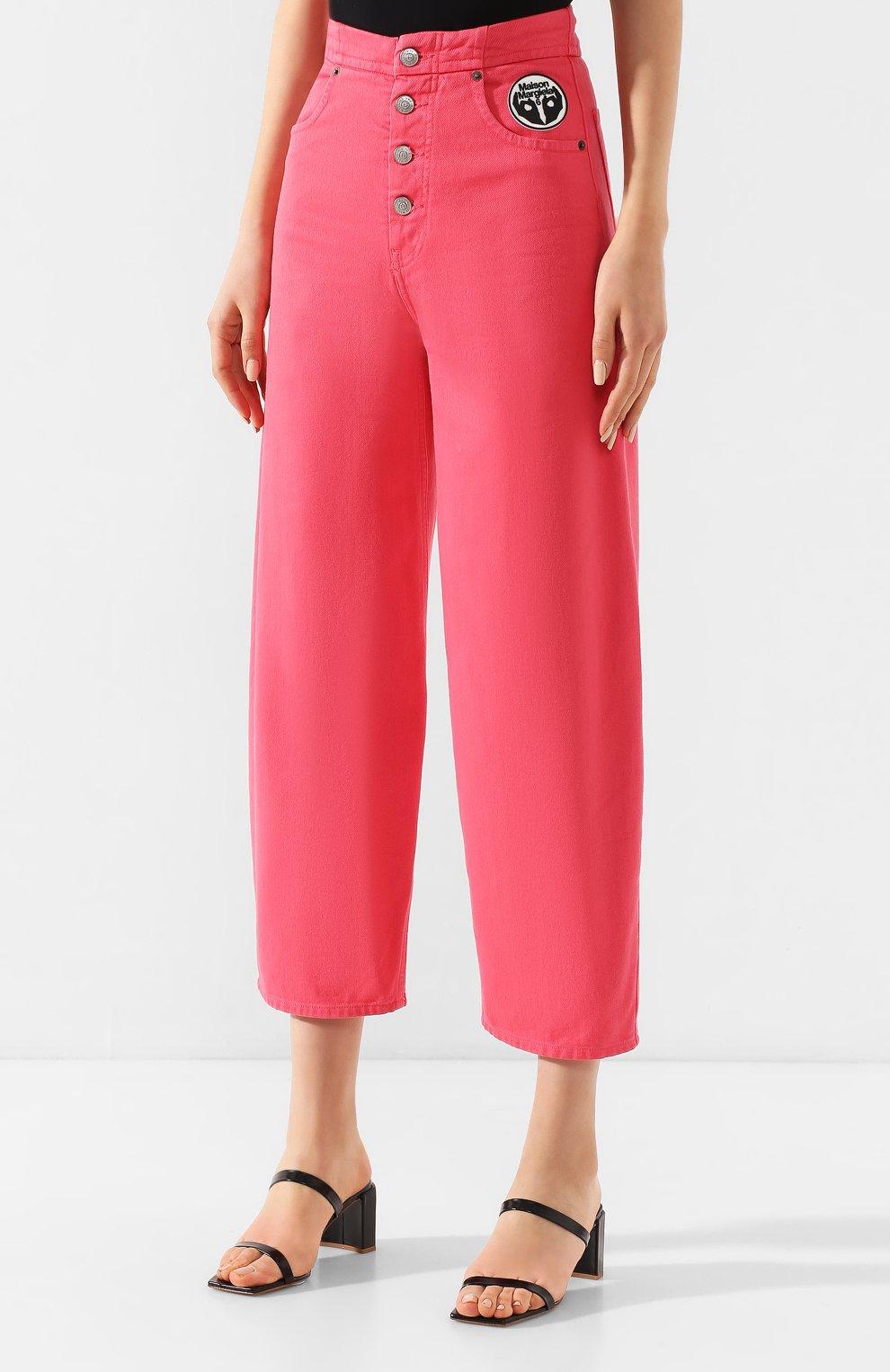 Женские джинсы MM6 розового цвета, арт. S52LA0119/S30653 | Фото 3