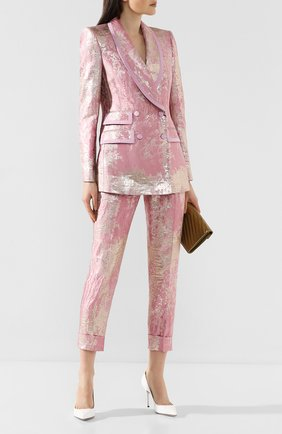 Женский двубортный жакет DOLCE & GABBANA розового цвета, арт. F29EIT/HJMJR | Фото 2
